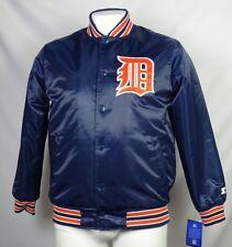 Detroit Tigers STARTER Black Label Men's Blue Snap-Up Jacket MLB