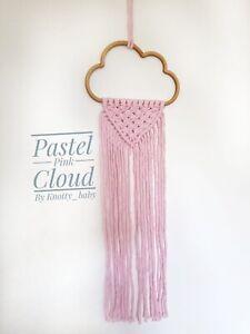 100% Cotton Macrame MDF Cloud Wall Hanging/Eco packaging/Nursery decor
