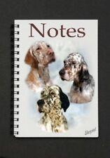 English Setter Dog Notebook/Notepad with small image on every page By Starprint