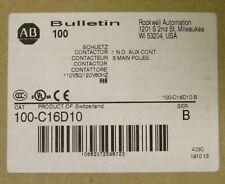 ALLEN BRADLEY 100 C16D10 110/120VAC 3 Pole 16 Amp C16 Contactor