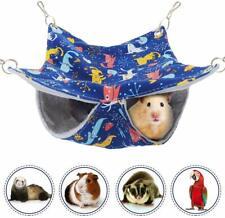 Homeya Pet Small Animal Hanging Hammock, Bunkbed Hammock Toy for Ferret Hamster