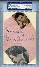 DON ALVARADO Vintage Signed Slabbed Cut + Photo - Rio Rita - Rin Tin Tin PSA/DNA