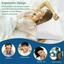 Memory Foam Sleep Pillows Contour Cervical Orthopedic Breath Pillow Support F0Z6