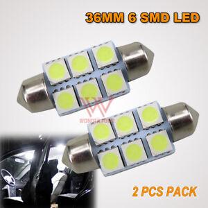 2x 36MM WHITE LED 5050 SMD LIGHT WORK BULB GLOBE LIGHT COURTESY INTERIOR LAMP
