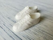 Vintage Ken Doll Pair White Plastic Molded Lace Sneakers Tennis Shoes Maylasia