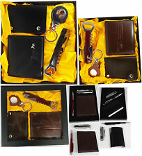 Gift box with a corkscrew/ bottle opener combo tool, Pen,Key Ring and Wallet