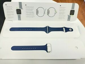 Apple Watch 44mm Blue Navy Sport Band - NEW OEM - Small / Medium and Large Bands