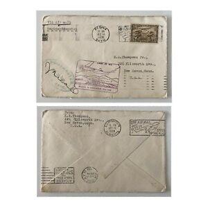 1928 Postmaster Signed FF Cover 5c Fancy Cancel Regina to Edmonton