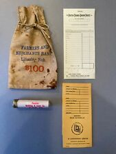 VTG  Banking Items / Farmers Bank Nebraska/ 5/3 deposit / metal top dime holder