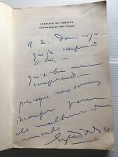 1962 IONESCO ENVOI+SIGNATURE THEATRE E.O NOTES ET CONTRE NOTES LIVRE BOOK NRF