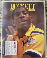 Magic Johnson Signed Beckett Basketball Monthly PSA Aug 1991