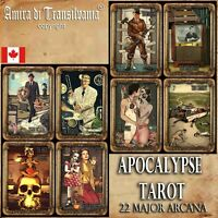 apocalypse tarot card cards deck fortune telling rare vintage zombie oracle set