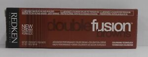 REDKEN Double Fusion DOUBLE BROWNS Professional Permanent Hair Color ~ 2.1 fl oz