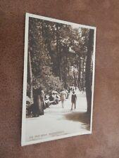 1920s  postcard  -nice social scene -Pine walk - Bournemouth Dorset