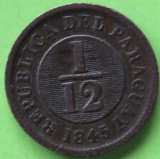 PARAGUAY 1/12 REAL 1845