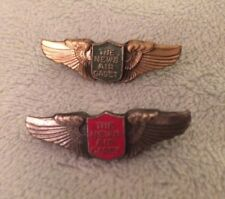 Rare WWII WW2 The News Air Cadet Miniature Wings Green/Gold & Red/Silver