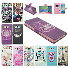 Pretty PU Leather Flip Wallet Pouch Cover Case Stand For Samsung Galaxy A5 2015