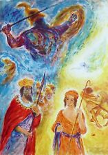"""Ira Moskowitz """"David & Goliath"""" HAND SIGNED LIMITED ED LITHOGRAPH Song of Songs"""