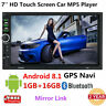 Android 8.1 4G WiFi Double 2Din Car Radio Stereo GPS Navi Multimedia Player 7''