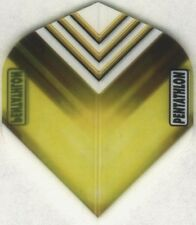 "Yellow ""Vizion V"" PENTATHLON Dart Flights: 3 per set"