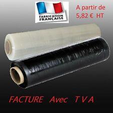 Bobine Film Étirable Palette NOIR ou TRANSPARENT 45 cm x 270 m Rouleau  17µ
