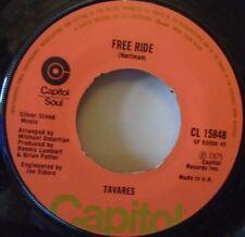 "TAVARES - Free Ride ~ 7"" Single"