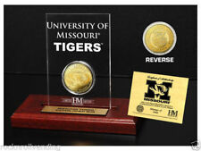 Missouri Tigers Highland Mint 24K Gold Coin & Etched Acrylic Display NIB List$60
