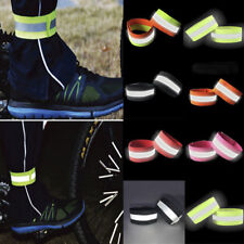 2Pcs High Visibility Arm Strap Bands Reflective Safety Band Florescent Leg Arm j