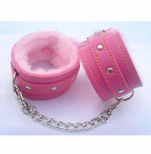 UK Sexy Slave Hand Ring Handcuff Restraint Chain SM Sex Flirt Toy Tools PINK