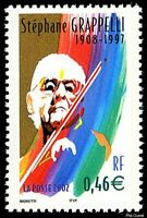Timbre de 2003 - Étoiles du Jazz  Stéphane Grappelli 1908-1997  - N° 3504 Neuf