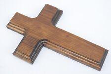 Old Rugged Cross Handmade Pine Wood 7x4.5in Wall Hanging Christian Crucifix 703