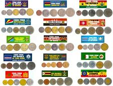 5 DIFFERENT COINS FROM AFRICAN COUNTRIES. AFRICAN MONEY, CURRENCY COLLECTION