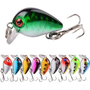 10x Mini Minnow Bass Fishing Lures Crankbaits Swimbaits Trout Pike Freshwater