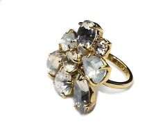 "J.Crew Women's Size 7 - NWT$59 - 1"" Crystal Cluster Cocktail Statement Ring"