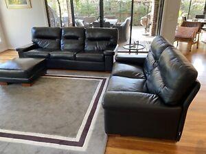 Moran quality 3+2+ 1 Leather lounge suite