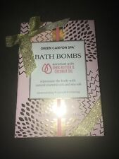 Green Canyon Spa Bath Bombs with Shea Butter and Coconut Oil