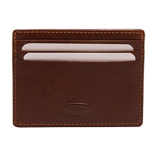 Hansson - Brown Italian Leather Slim Credit Card Holder with RFID Protection