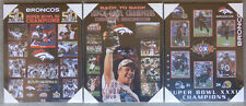Set of All 3 Denver Broncos Super Bowl 50, 33 & 32 Championship Picture Plaques
