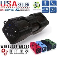 Waterproof Portable Wireless Bluetooth V4.2 Speaker BASS Aux NFC For Android iOS