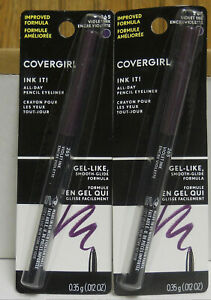 2 CoverGirl Ink It All day Eye Pencil Crayon #265 Violet Ink (New)