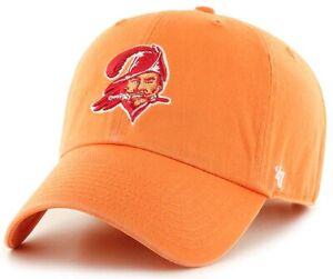 Tampa Bay Buccaneers NFL '47 Throwback Legacy Orange Clean Up Hat Cap Adjustable