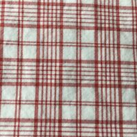 Eddie Bauer Home Red White Plaid Twin Sheet Triple Berry Fitted Cotton