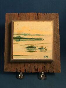Petie Brigham (US, b. 1947) Oil on Board Painting of Sea Isle City, NJ