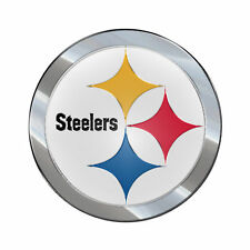 Pittsburgh Steelers Color Emblem Sticker Decal Aluminum Metal Car Truck Auto