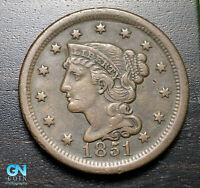 1851 Braided Hair Large Cent --  MAKE US AN OFFER!  #K3181