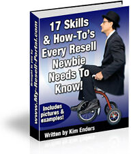 E BOOK SALE - 17 SKILLS & HOW TO'S EVERY RESELL NEWBIE NEEDS TO KNOW ON CD