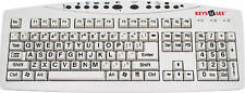 Large Print English Keyboard - Black Letters on White