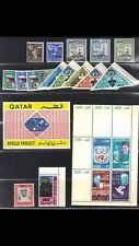QATAR 1954-67 COLL OF 4 COMPLETE SETS JOHN KENNEDY S/S SPACE SPORTS THE BLOCKS &