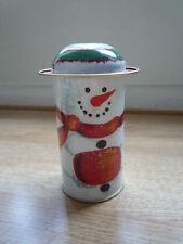 Decorative tin - snowman white Christmas