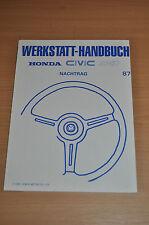 Werkstatthandbuch Funktion und Aufbau Nachtrag HONDA Civic 4WD (1987)